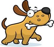Os de chien de bande dessinée illustration de vecteur