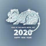 2020 a?os de la rata foto de archivo libre de regalías