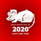 2020 a?os de la rata foto de archivo