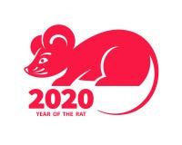 2020 a?os de la rata fotos de archivo