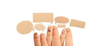 Os dedos sorriem, com um espaço para seu texto. Foto de Stock Royalty Free