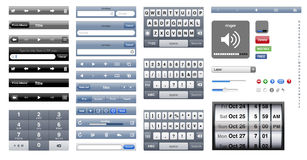 OS del gráfico de Iphone Fotografía de archivo