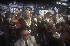 Os delegados enraízam para seus candidatos Imagens de Stock