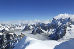 Os dentes du Midi nos cumes suíços Fotos de Stock Royalty Free