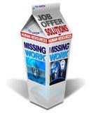Os desaparecidos do leite trabalham Imagem de Stock