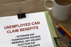 Os desempregados podem reivindicar benefícios Foto de Stock Royalty Free