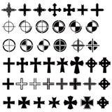 Os desenhadores utilizam ferramentas 02 - cruz Imagem de Stock