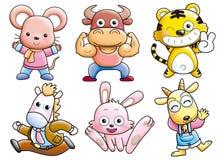 Os desenhos animados ajustaram 039 Fotos de Stock