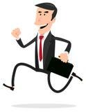 Os desenhos animados apressaram o homem de negócios Fotos de Stock Royalty Free