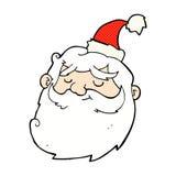 os desenhos animados cômicos Papai Noel enfrentam Fotografia de Stock