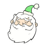 os desenhos animados cômicos Papai Noel enfrentam Foto de Stock