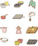 Os desenhos animados cozem o ícone Imagens de Stock Royalty Free
