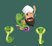 Os desenhos animados da cobra ajustaram 2 Imagem de Stock