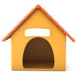 Os desenhos animados denominaram a casa de cachorro Foto de Stock Royalty Free