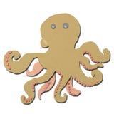 os desenhos animados do calamar fizeram o papercraft do tecido do formulário Fotografia de Stock Royalty Free