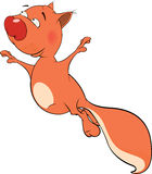 Os desenhos animados do esquilo Foto de Stock