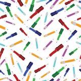 Os desenhos animados do fundo da escola encerram a ilustração dos lápis ilustração royalty free