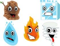Os desenhos animados dos elementos Fotos de Stock