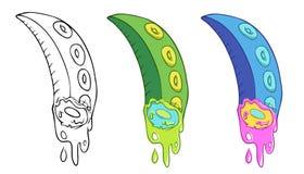 Os desenhos animados eliminaram tentáculos Imagens de Stock