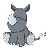 Os desenhos animados enchidos do rinoceronte do brinquedo Foto de Stock Royalty Free