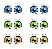 Os desenhos animados eyes, projeto do ícone do símbolo da silhueta do vetor da expressão ilustração do vetor
