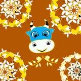 Os desenhos animados felizes crocitam com texto do humor com Fotografia de Stock Royalty Free
