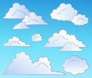 Os desenhos animados nublam-se a coleção Fotos de Stock