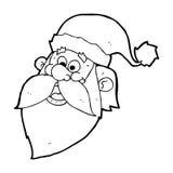 os desenhos animados Papai Noel alegre enfrentam Imagens de Stock Royalty Free
