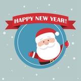 Os desenhos animados Santa Claus para seu cumprimento do Natal e do ano novo projetam Foto de Stock