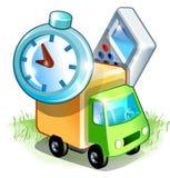 Os desenhos animados transportam próximo por objetos Imagens de Stock