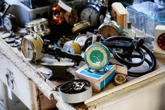 Os despertadores velhos Imagem de Stock Royalty Free