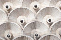 Os detalhes abstratos do projeto da arquitetura de cascata, Yerevan, Armênia Imagens de Stock Royalty Free