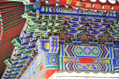 Os detalhes arquitetónicos do templo do rei do dragão Fotos de Stock Royalty Free