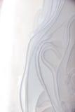 Os detalhes da noiva vestem a tela e o weddi bonito do bordado Imagens de Stock Royalty Free