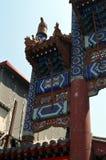 Os detalhes de entrada da rua famosa de Wangfujing ou da rua de Donghuamen no Pequim, China são uma atração de turistas famosa pa Fotografia de Stock