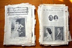 Os detalhes do jornal do Gentlewoman Fotos de Stock Royalty Free