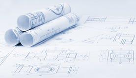 Os detalhes industriais do plano Fotos de Stock Royalty Free