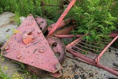 Os detalhes jogados-para fora do ferro de carros da constru??o foto de stock