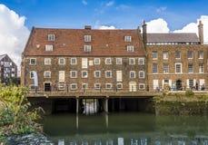 Os dezoito séculos, complexo de três moinhos, Londres imagem de stock