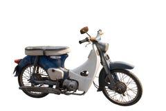 Os Di cortaram a motocicleta velha no fundo branco, copiam o espaço imagens de stock royalty free
