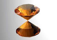 os diamantes 3D rendem Pedra preciosa da joia Imagem de Stock Royalty Free