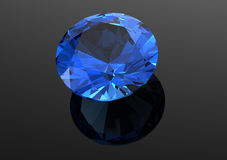 os diamantes 3D rendem Pedra preciosa da joia Imagens de Stock