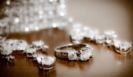 Os diamantes são um melhor amigo das meninas Fotos de Stock Royalty Free