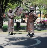 Os direitos das mulheres de bronze das estátuas Imagens de Stock