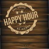 Os direitos do fundo da cerveja do happy hour livram a ilustração Fotografia de Stock