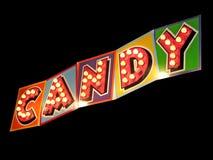 Os doces assinam iluminam-se dentro Fotos de Stock Royalty Free