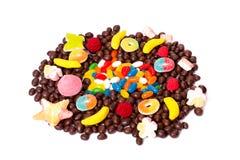 Os doces coloridos isolaram-se Imagens de Stock