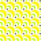 Os doces das gotas de limão Moons o teste padrão sem emenda ilustração stock