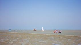Os dois barcos de pesca Fotografia de Stock