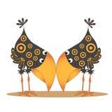 Os dois corvos Fotografia de Stock